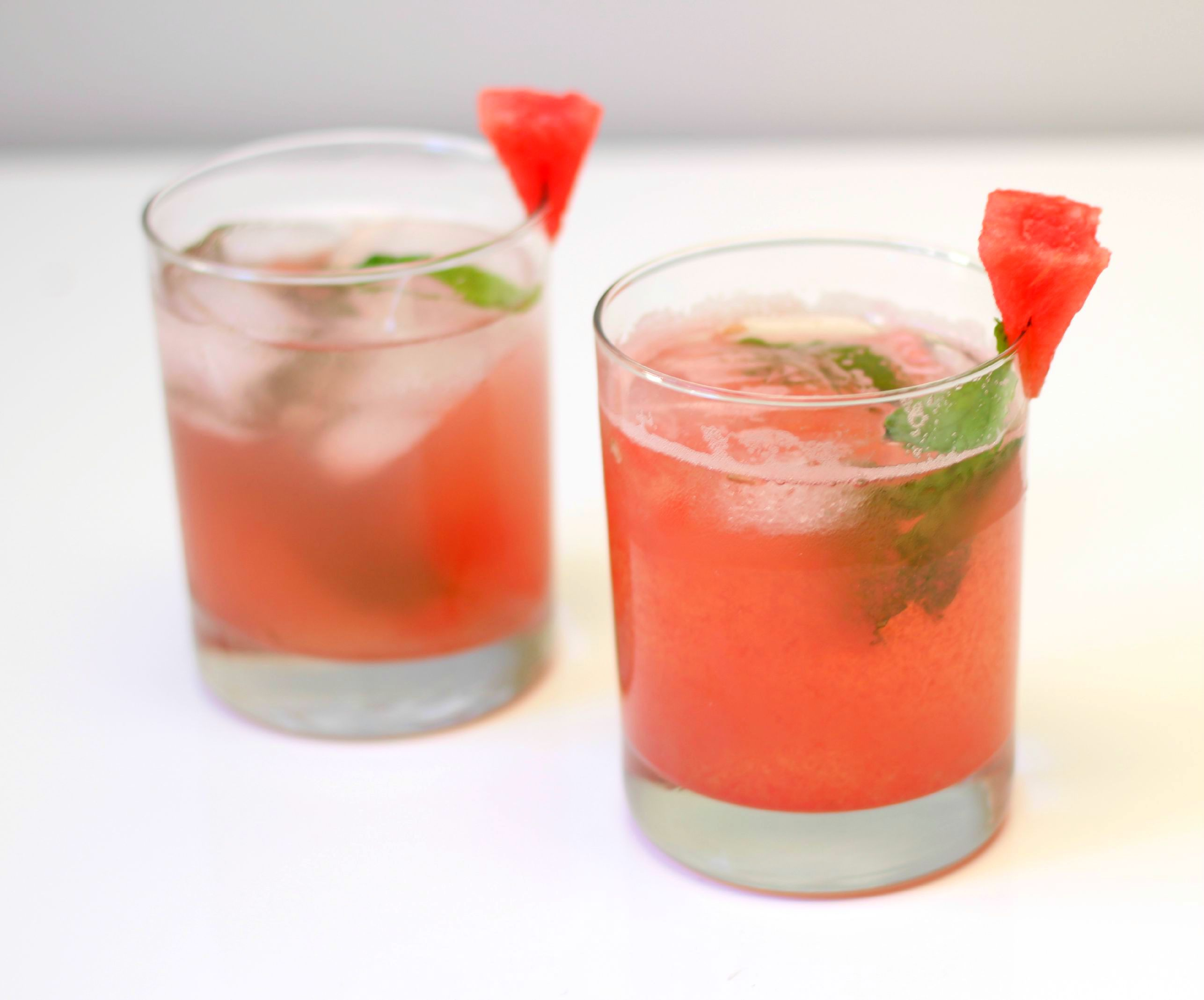 Watermelon Mint Cocktail Recipe by Twinspiration