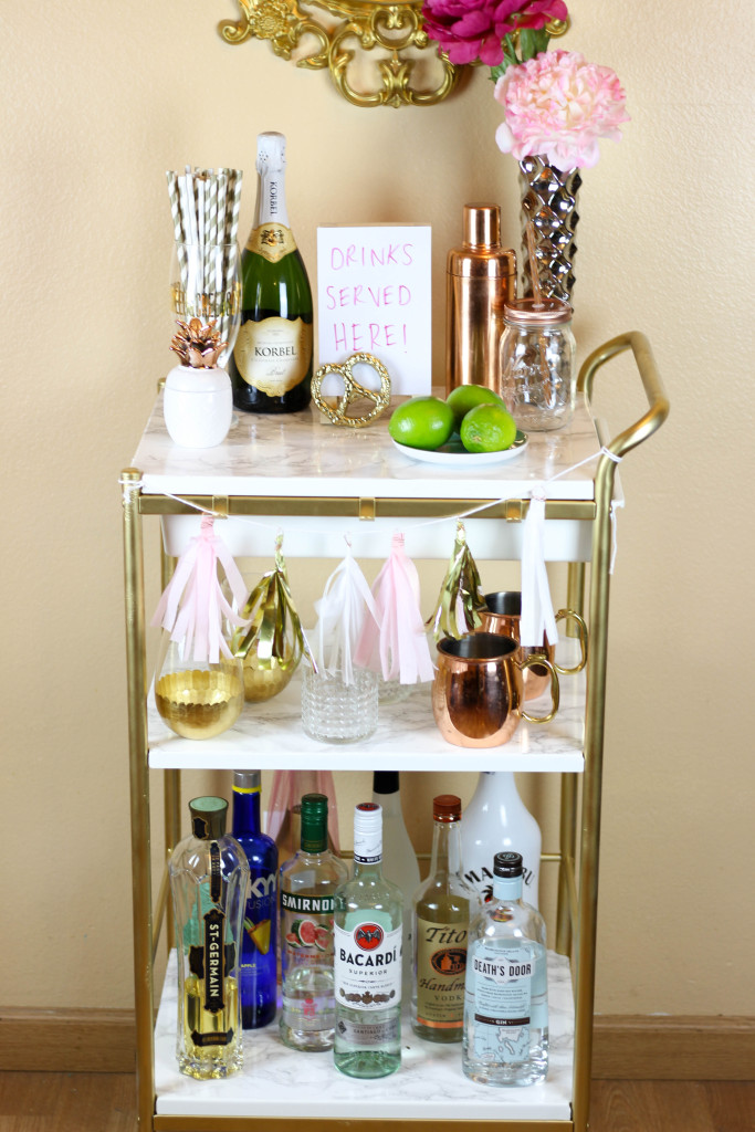 Ikea Hack Gold Amp Marble Bar Cart Twinspiration