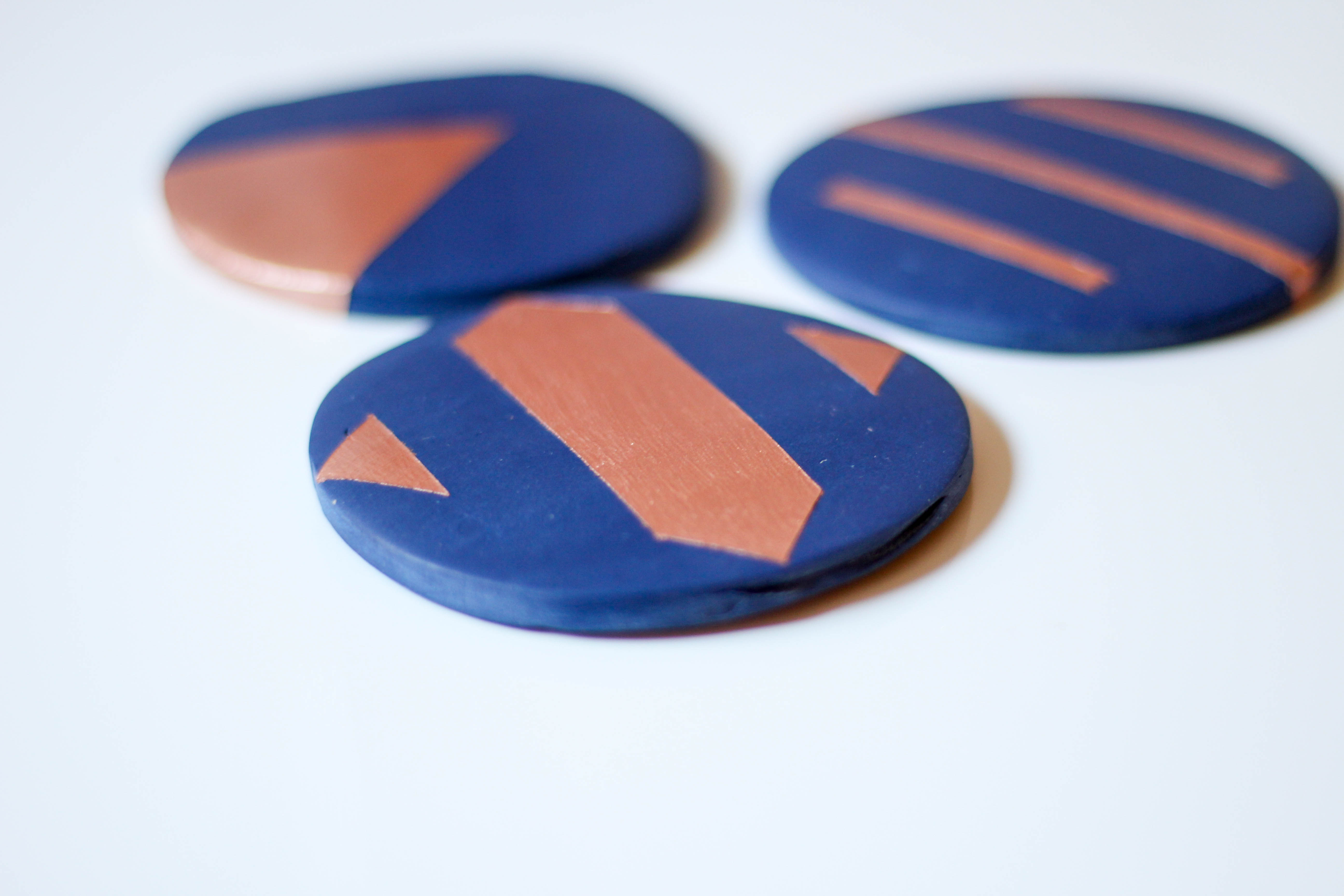 DIY Clay Coasters by Twinspiration at http://twinspiration.co/diy-clay-coasters/