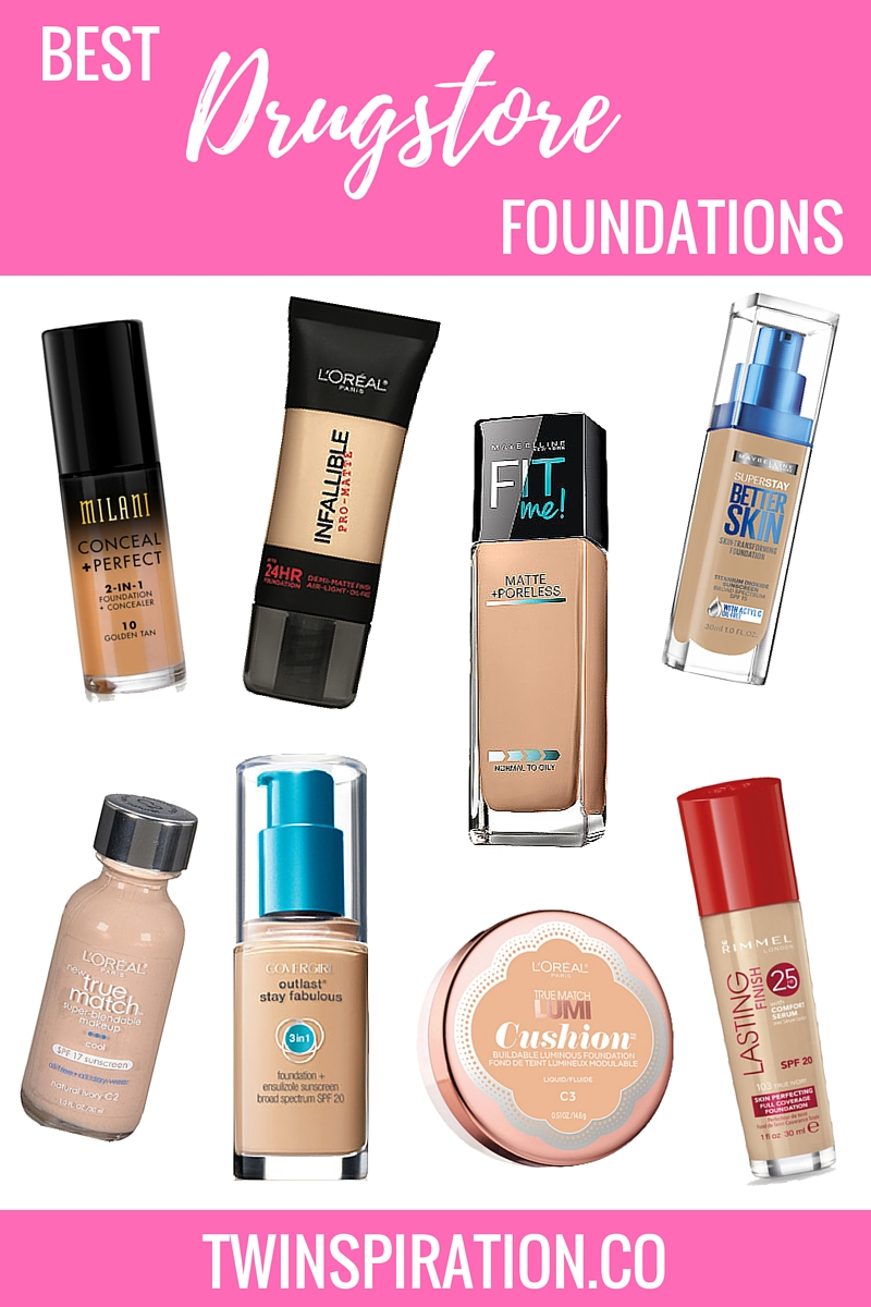 Best Drugstore Foundations | Twinspiration