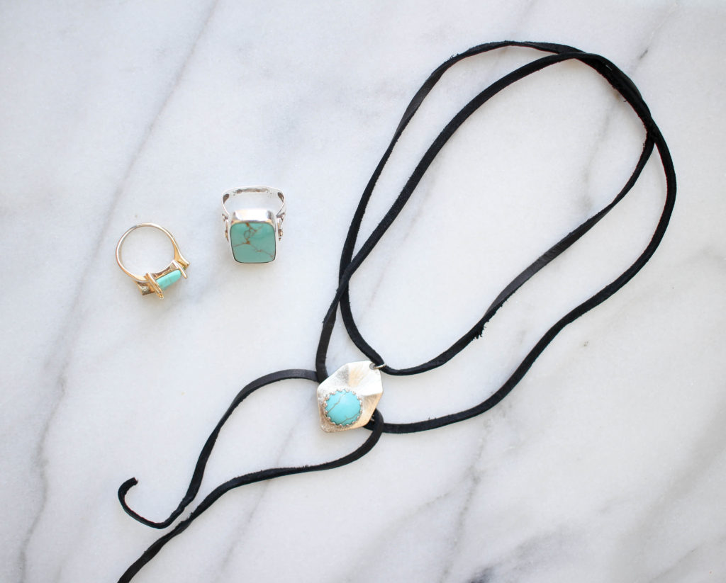 DIY Turquoise Choker Necklace