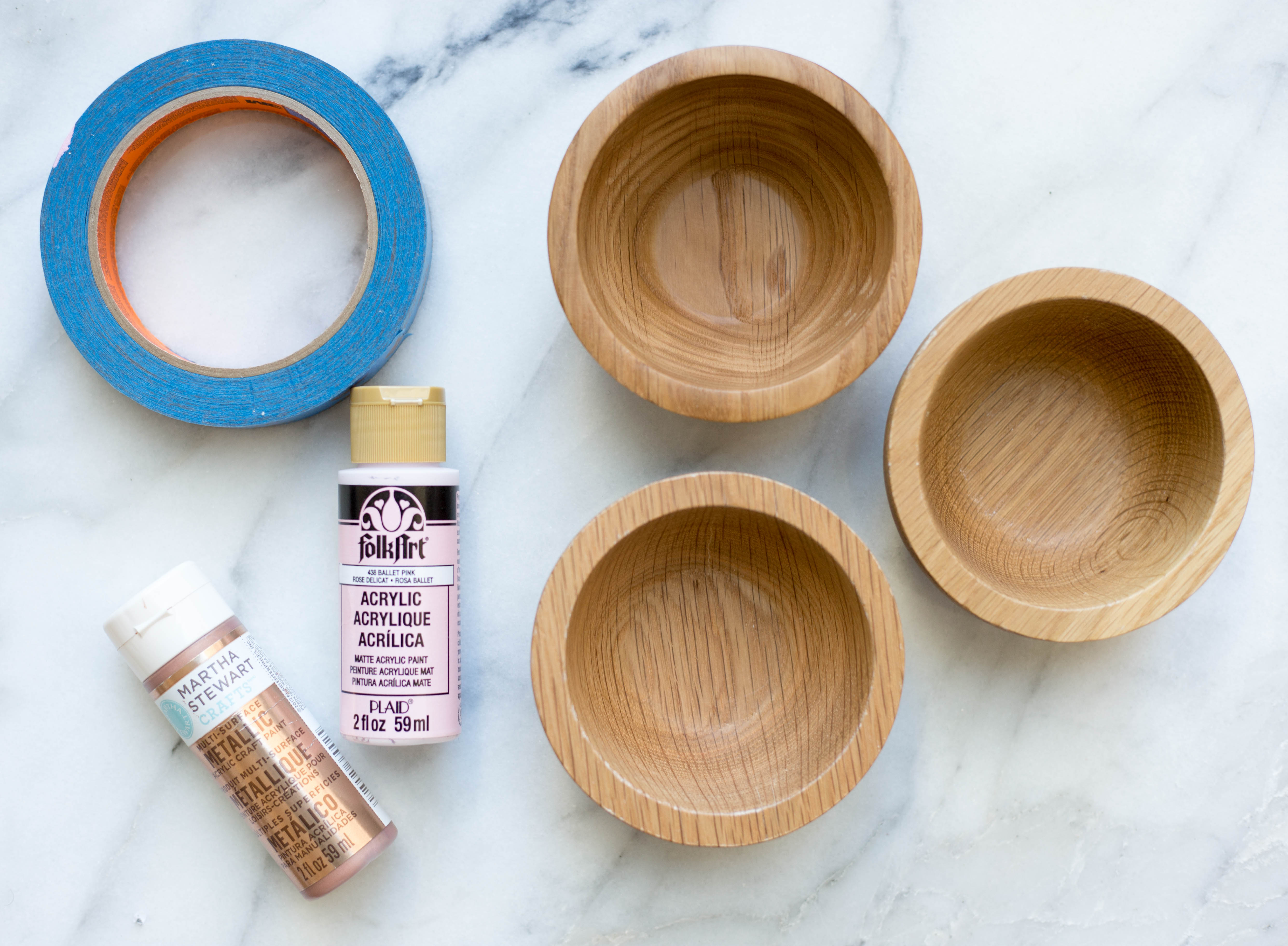DIY Color Blocked Bowls | Twinspiration