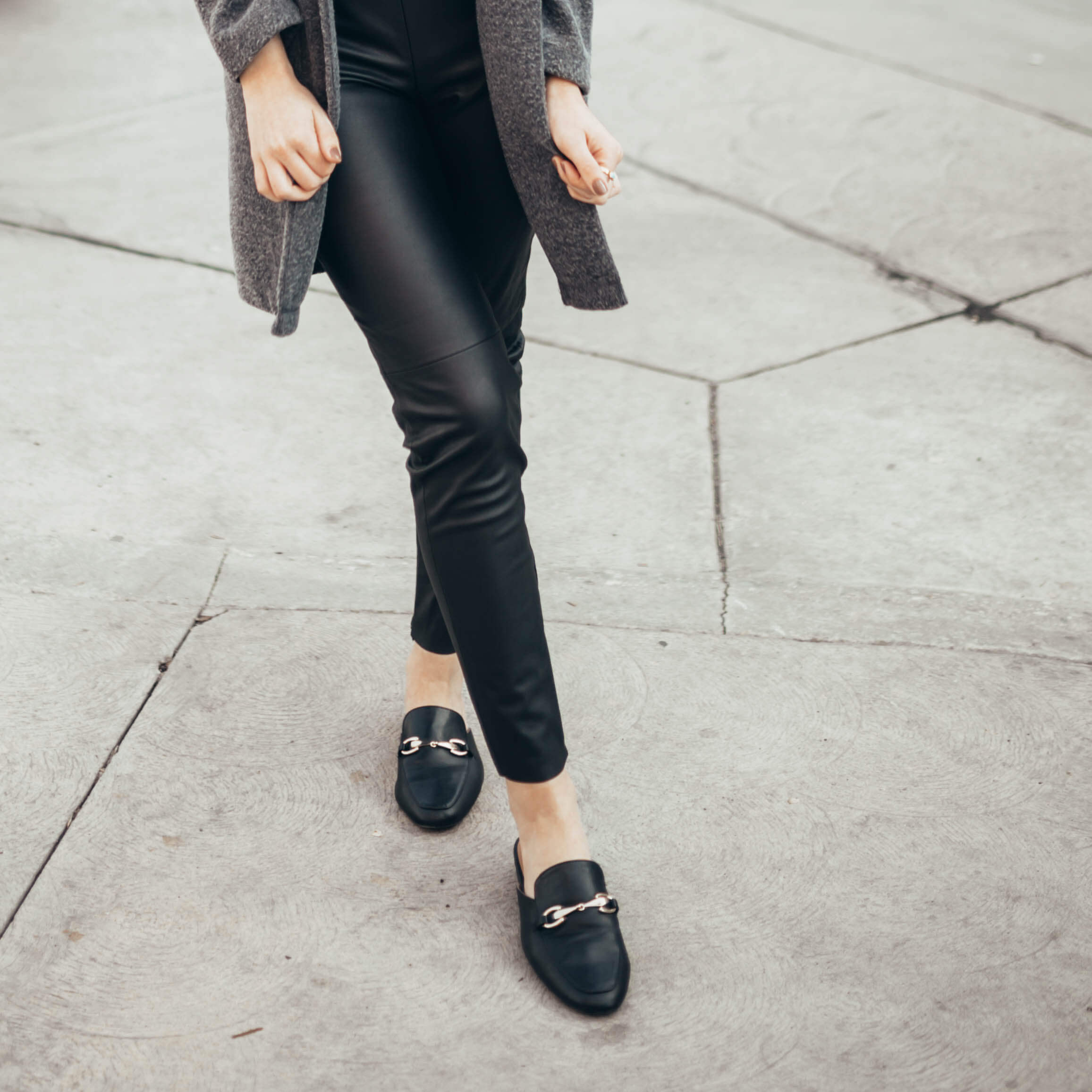 How to Style Faux Leather Pants | Twinspiration