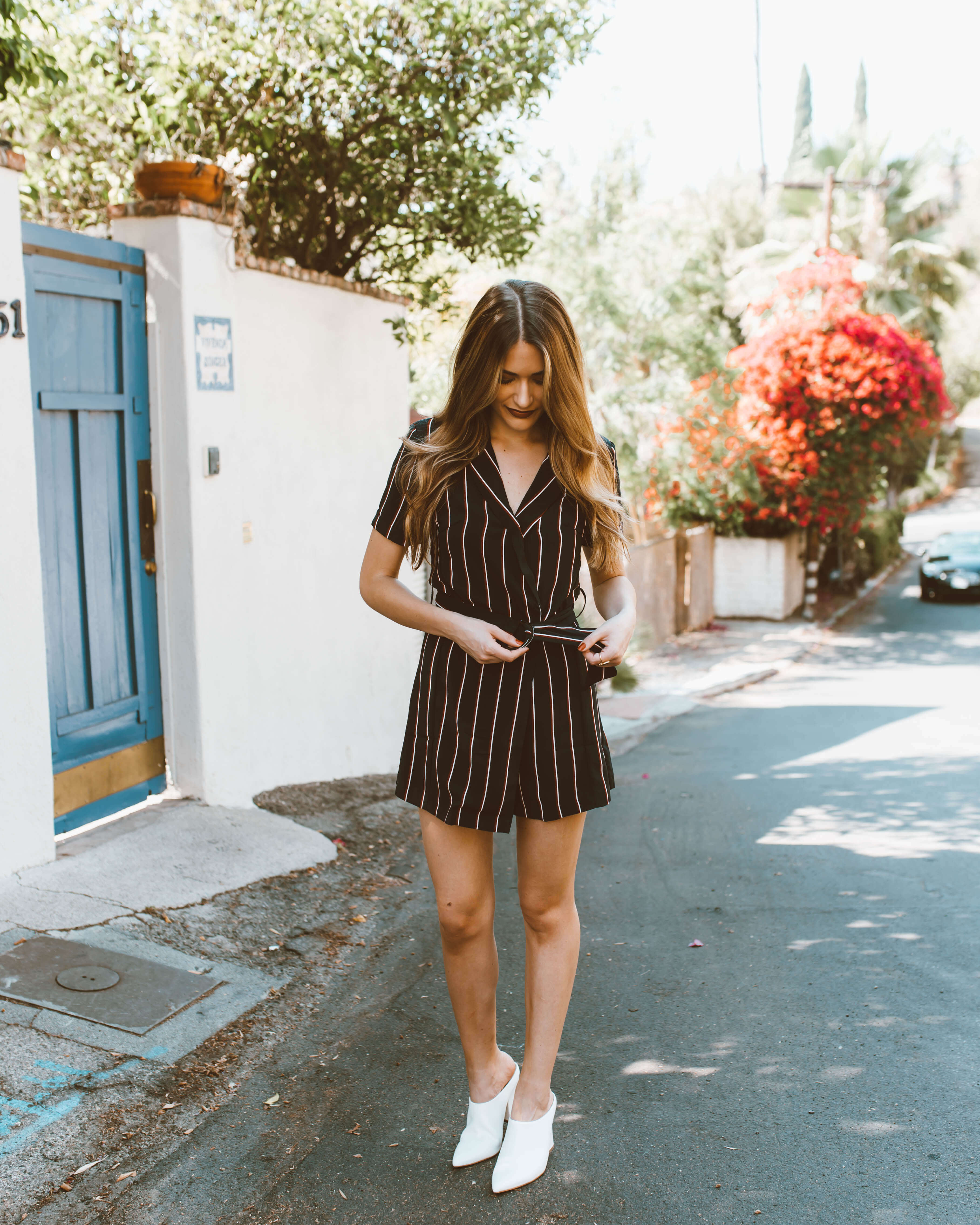 Transitional Striped Romper | Twinspiration