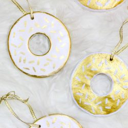 DIY Gilded Donut Ornaments by Twinspiration