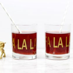 DIY Holiday Drinkware by Twinspiration